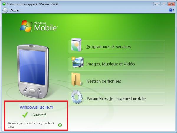 ActiveSync y Windows Mobile en Windows 8 7