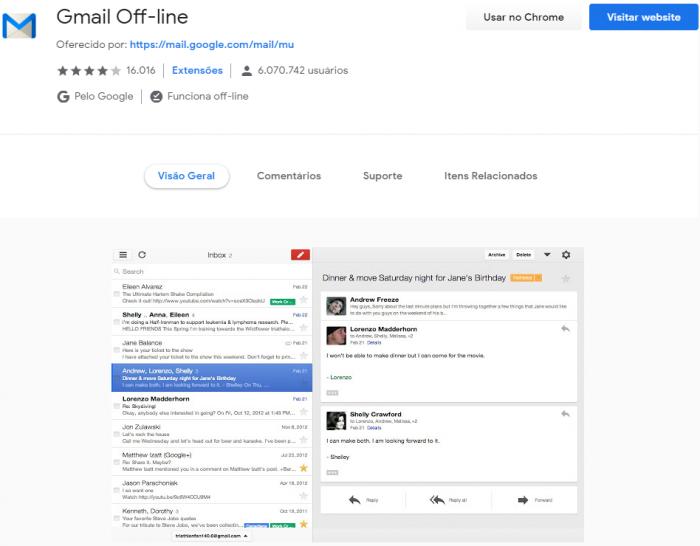 Google eliminará la aplicación Gmail sin conexión para Chrome 1