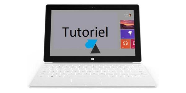 Surface / Windows RT: aumente la reactividad de su tableta 1