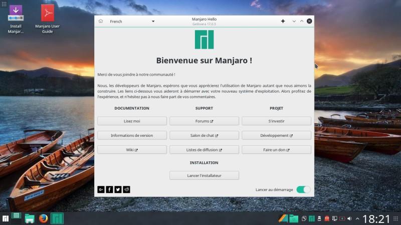 Manjaro 17.0.3 en prueba en su ordenador 1