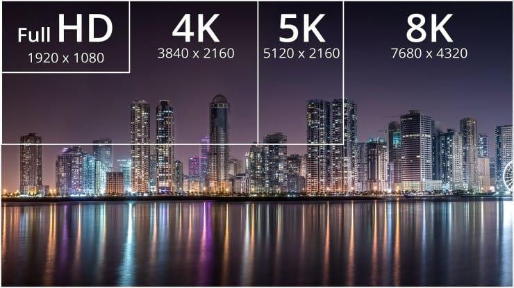 ¿Cuál es la diferencia entre una resolución de 8K y una resolución de 4K? 1