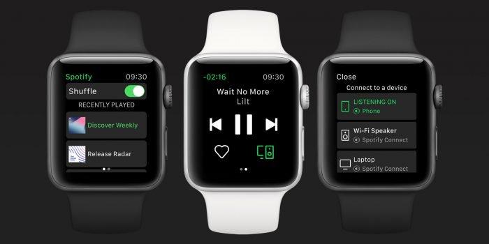 Spotify llega finalmente al Apple Watch, pero sin música offline
