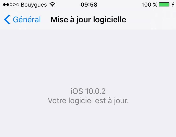 iOS 10.0.2 : actualización para iPhone, iPad, iPod touch