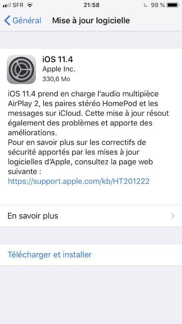 iOS 11.4: Actualización de iPhone, iPad, iPod (enlaces IPSW) 2
