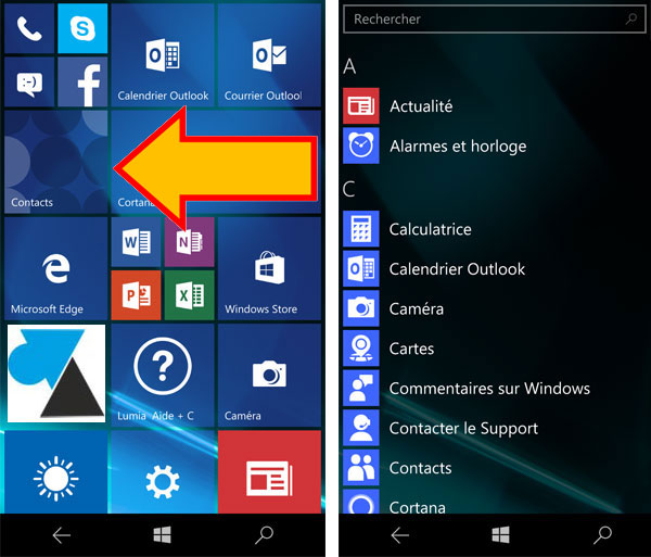 Windows 10 Mobile: desinstalación de una aplicación 2