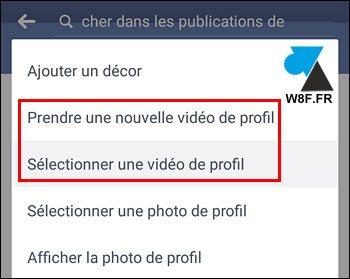 Facebook: añadir un vídeo de perfil 2