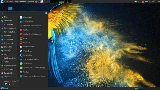 Parrot, una prueba de distribución basada en Debian para seguridad, desarrollo y privacidad. 6