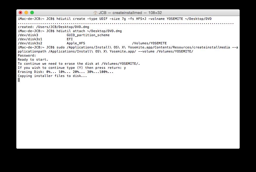 Crear un DVD de arranque de Yosemite (Mac OS X 10.10) 6