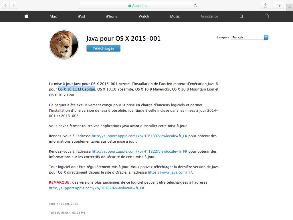 Instalar Java El Capitan (Mac OS X 10.11) 1
