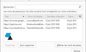 Mozilla Firefox: ver contraseñas guardadas