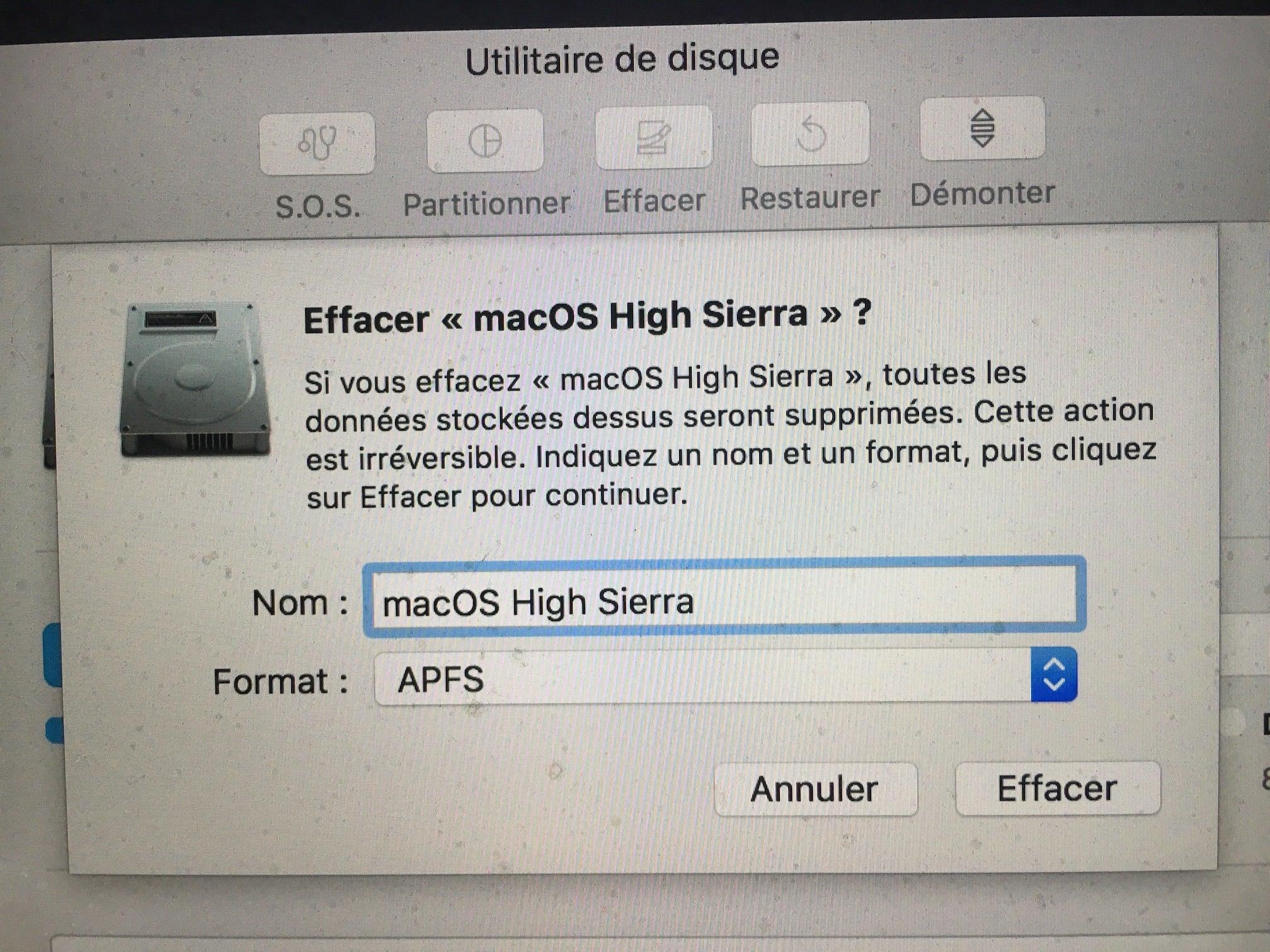 Instalación limpia macOS High Sierra (10.13)