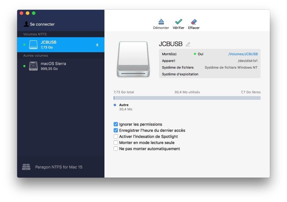 Escritura en un disco NTFS bajo macOS