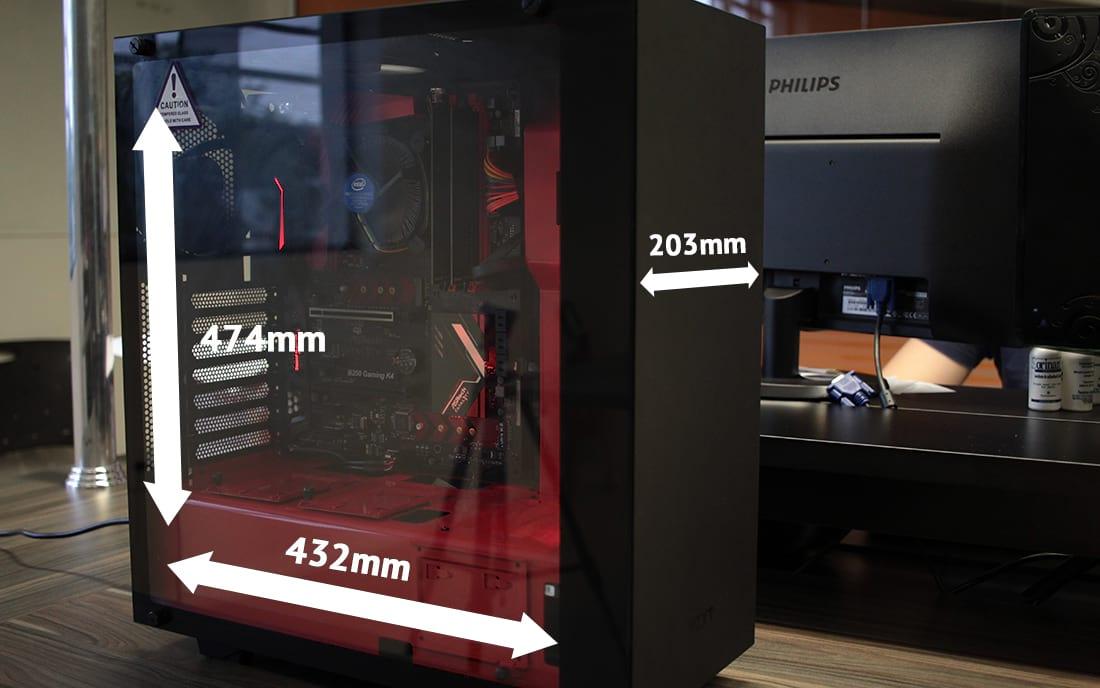 Resultado de imagen para Gabinete Nzxt S340 Elite black red