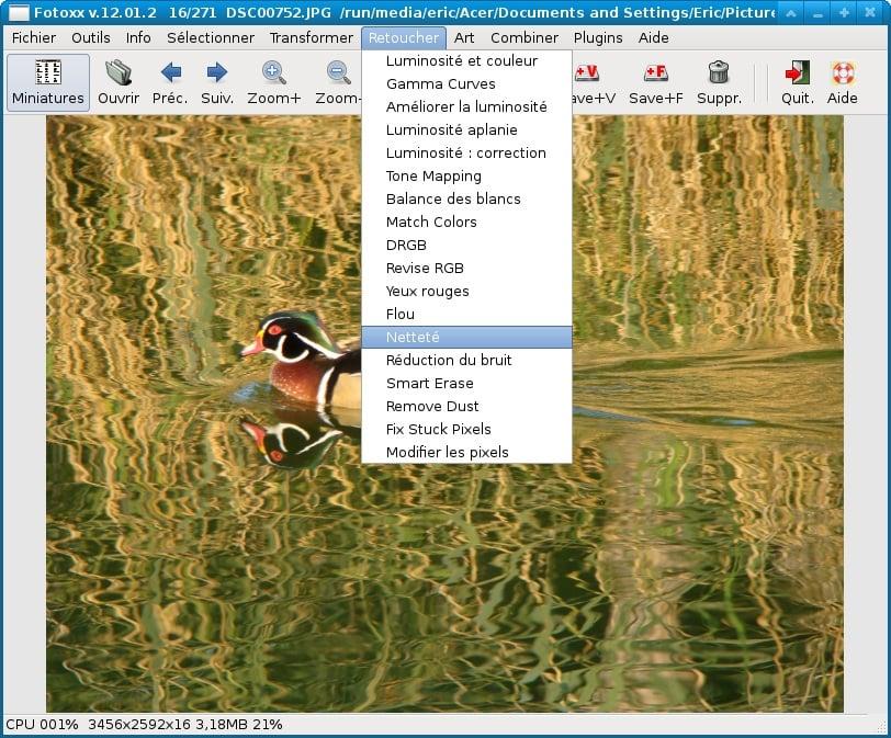 Fotoxx para gestionar y editar sus fotos