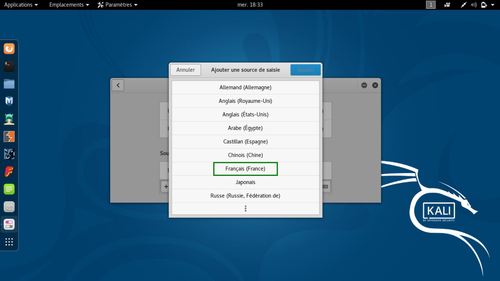 Linux Mint Cinnamon Teclado francés