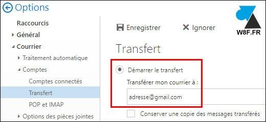 Redireccionar los mensajes de Outlook a otra cuenta