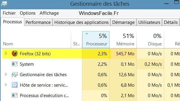 Windows 8: Abra el administrador de tareas