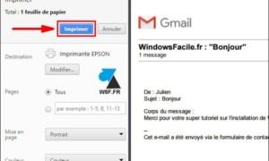 Gmail: imprimir un mensaje