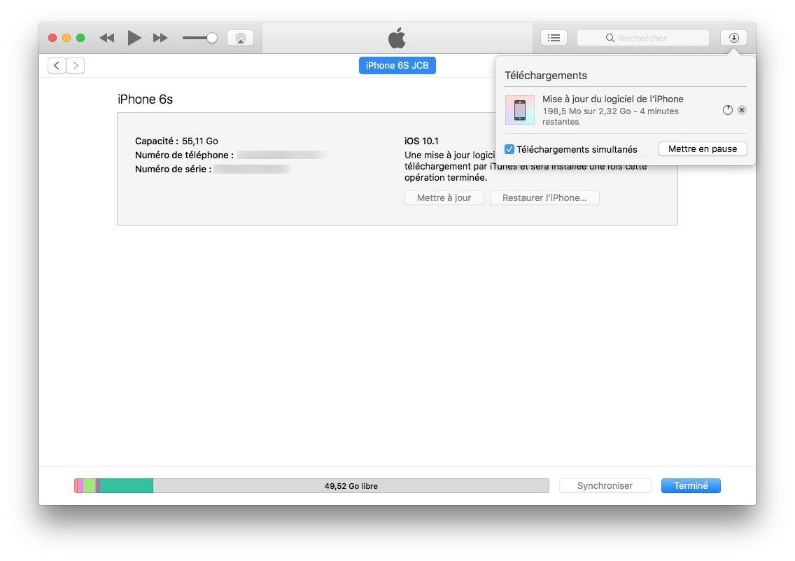 iOS 10.1.1.1.1: actualización para iPhone, iPad, iPod touch