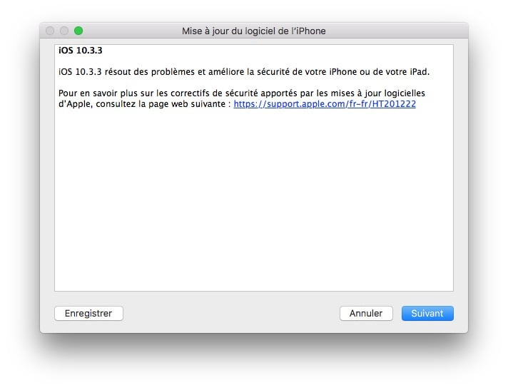 iOS 10.3.3.3.3: actualización para iPhone, iPad e iPod touch (enlaces IPSW)