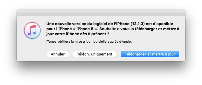 iOS 12.1.3 : actualización para iPhone, iPad (enlaces IPSW)