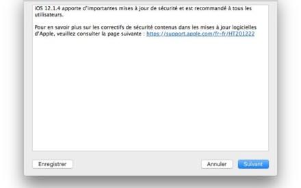 iOS 12.1.4 : actualización para iPhone, iPad (enlaces IPSW)