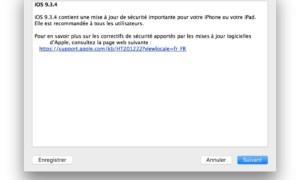 iOS 9.3.4 : actualización disponible para iPhone, iPad, iPod touch