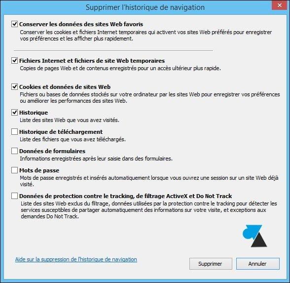 Internet Explorer: borrar el historial de navegación