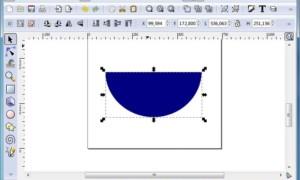 Inkscape, diferencia entre dos objetos