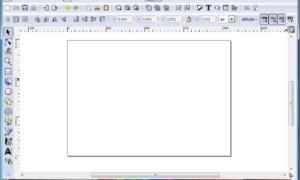 Inkscape, cambia de orientación vertical a horizontal