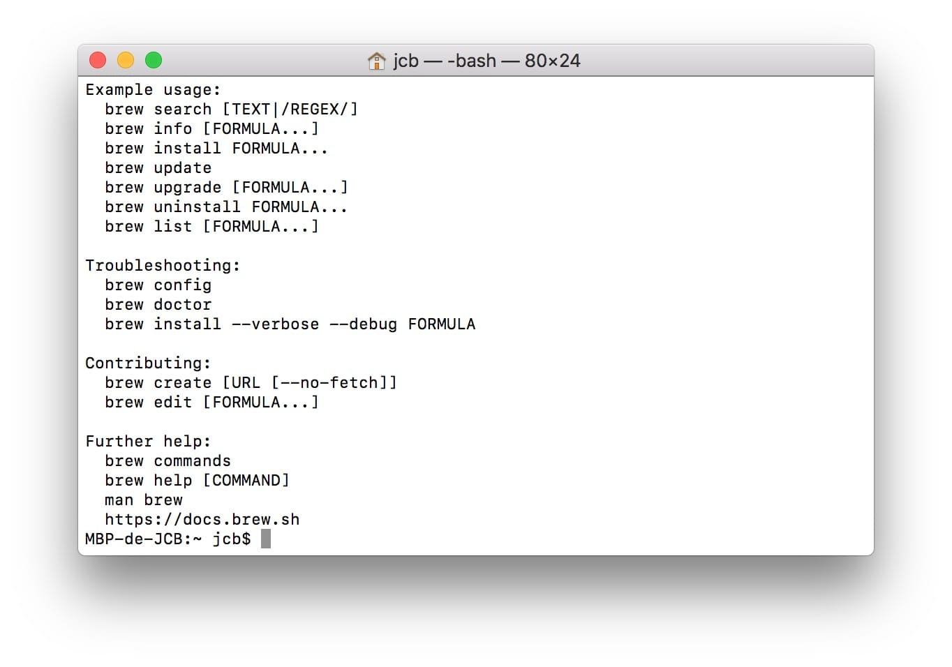 Instalar Homebrew en Mac (macOS / Mac OS X)