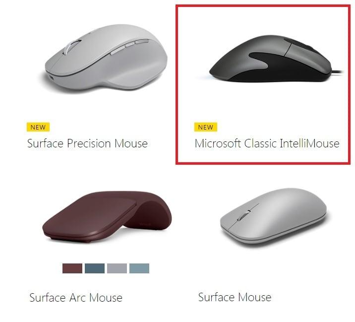 IntelliMouse: Microsoft finalmente relanza el famoso ratón de rueda!