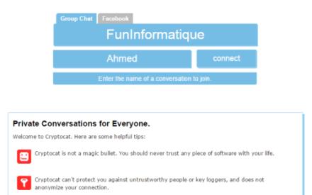 Un chat encriptado y fácil de usar