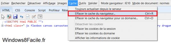 Internet Explorer 10: cambiar su agente de usuario