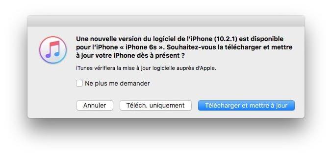 iOS 10.2.1 : actualización para iPhone, iPad e iPod 2