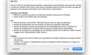 iOS 10.3 : actualización para iPhone, iPad e iPod