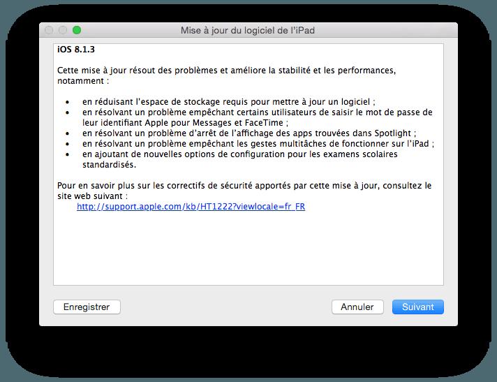 iOS 8.1.3 para iPhone, iPad, iPod: actualización