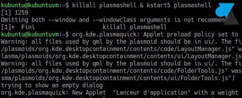 Fedora: relanzar KDE Plasma Shell