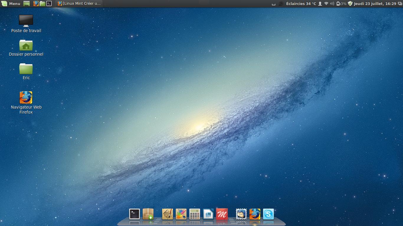 Linux Mint Crear un acceso directo en el escritorio