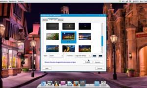 Una presentación de diapositivas como fondo de pantalla en Fuduntu