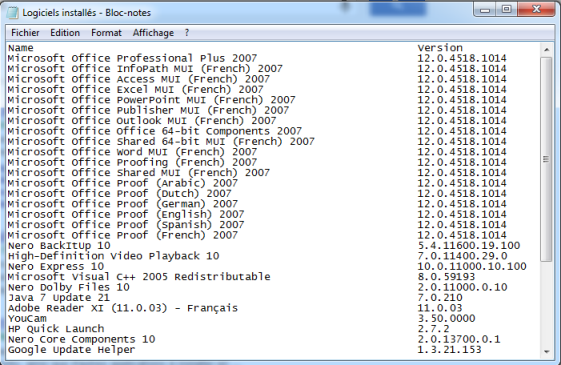 ¿Cómo puedo recuperar los nombres de los programas instalados en mi PC?