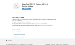 Mac OS X El Capitan 10.11.3 : actualización
