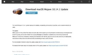 macOS 10.14.1: ¡disponible para todos los Macs!