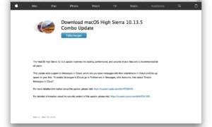 macOS High Sierra 10.13.13.5 para Mac (App Store y Combo)