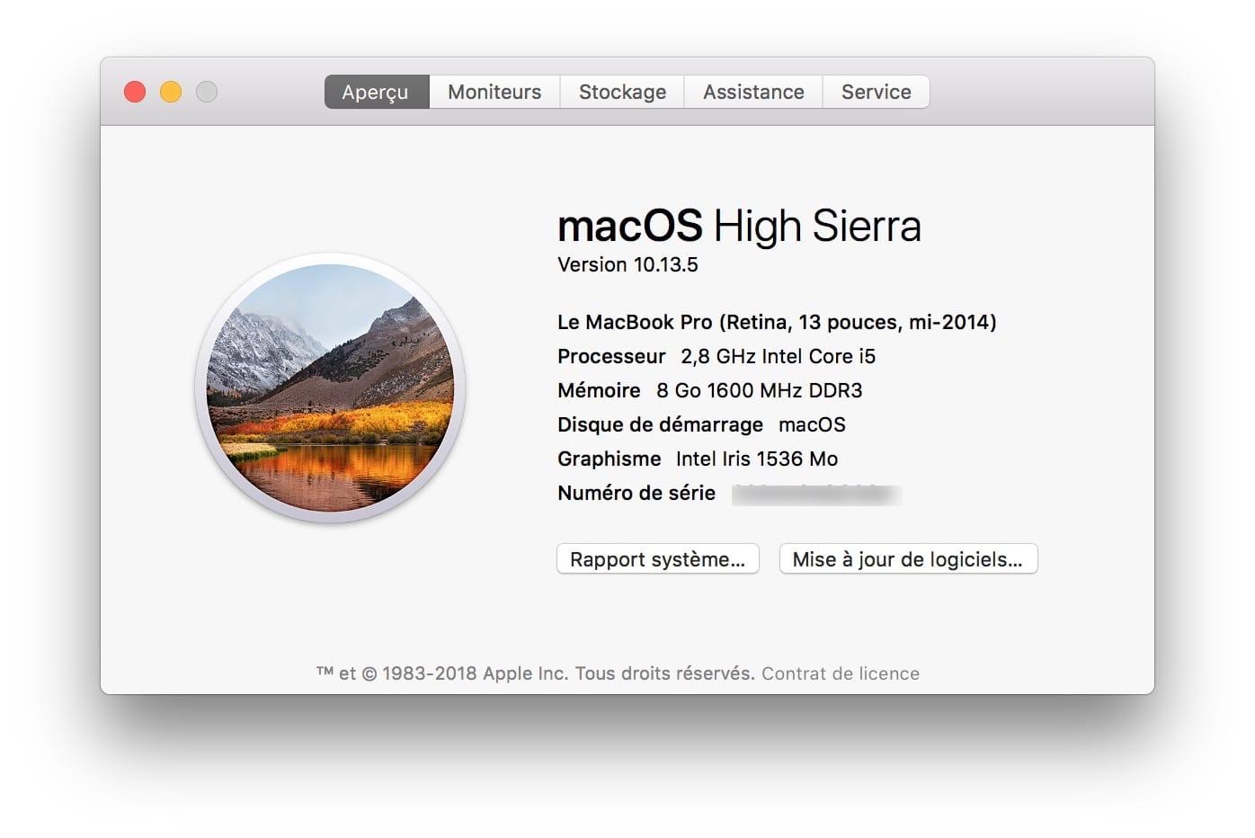 macOS Mojave (10.14) : compatible con MacBook, iMac