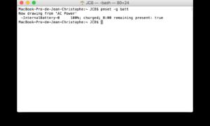 Duración de la batería del Macbook a través del terminal