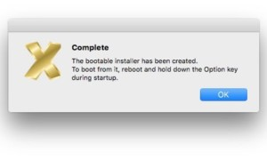 MacOS Sierra (10.12) : crear una llave USB de arranque