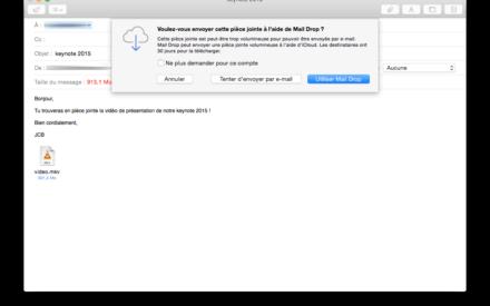 Descarga de correo: Envía un archivo adjunto de 5 GB con Apple Mail / iCloud Mail
