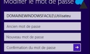 Windows 8 / 8.1 : cambiar la contraseña de un usuario de red