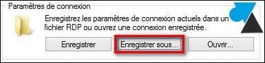 Guardar la configuración de una conexión de escritorio remoto